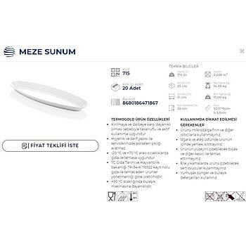 MEZU SUNUM 51*19 CM H:3,5 CM