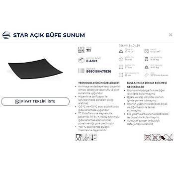 AÇIK BÜFE SUNUM STAR 35x35 H:4 CM