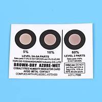 Nem Ýndikatör Kartý (Cobalt free, brown to azure, 3 dots %5-10-60) (200 adet)