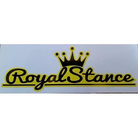 Royal Stance Sticker Sarý 16x6 cm