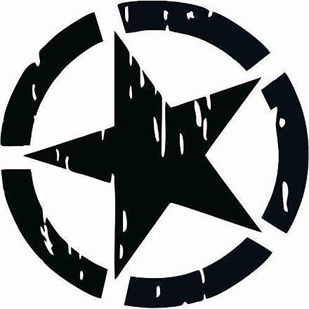 Asker Yýldýz Siyah Sticker