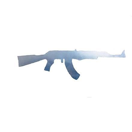 Makineli Tüfek Sticker Nikel
