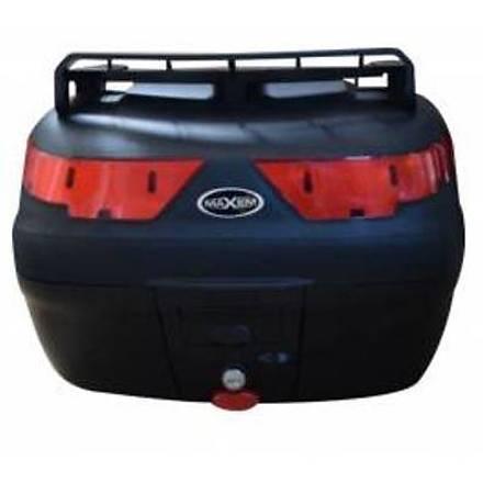 Maxem SL40 Bagajlý Motosiklet Arka Çanta Siyah 40 LT