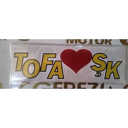 Tofaþk Sticker Sarý 17x5 cm