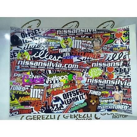 Hellaflush Büyükboy Sticker (50cm x 35cm)