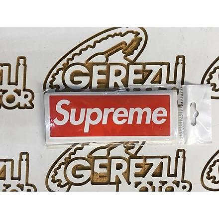 SUPREME Sticker Kýrmýzý Beyaz