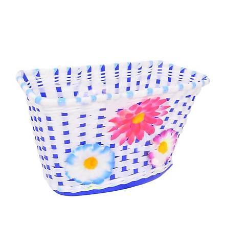 16 -20 Jant Çocuk Bisiskleti Plastik Örgü Ön Sepet Mavi - Beyaz
