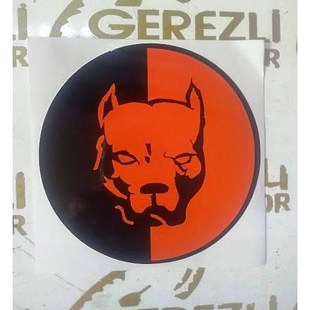 Kýrmýzý-Siyah Pitbull Sticker Büyük Boy (15cm x 15cm)
