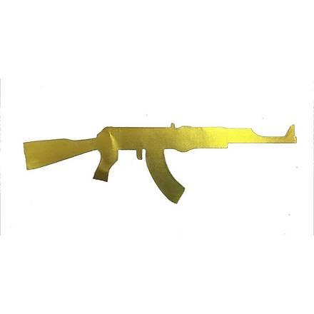 Makineli Tüfek Sticker Gold
