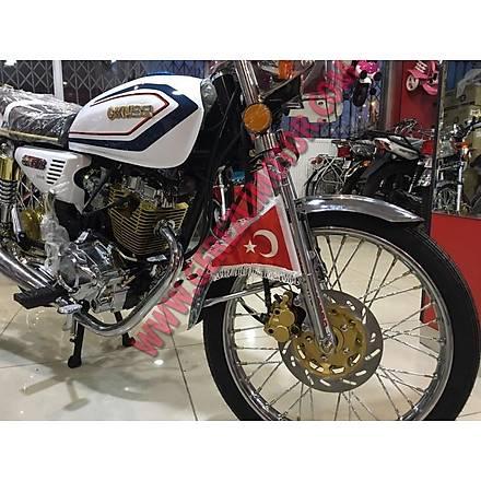 Motosiklet Üçgen Bayrak Nikel Direkli (Makam Bayraðý)
