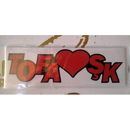 Tofaþk Sticker Kýrmýzý 17x5 cm