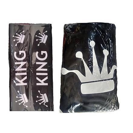 Ýkili Siyah King Kombini (Koltuk kýlýfý+Amortisör Kýlýfý-28 Cm)