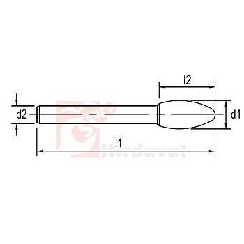 Ekonomik Tip Karbür Kalýpçý Frezesi SH Çapraz 06x18 mm Baþlý 58 mm Saplý (1 Adet)