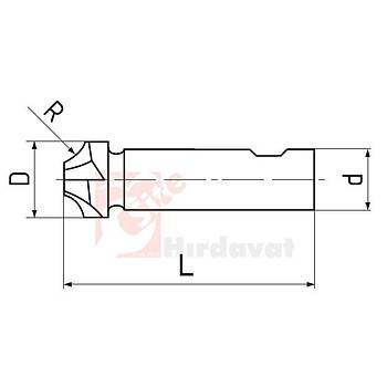 Köþe Yuvarlama Freze R 14 x 42 mm DIN 6518 (1 Adet)
