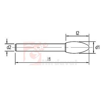 Karbür Kalýpçý Frezesi SH Çapraz 10x25 mm Baþlý 65 mm Saplý (1 Adet)