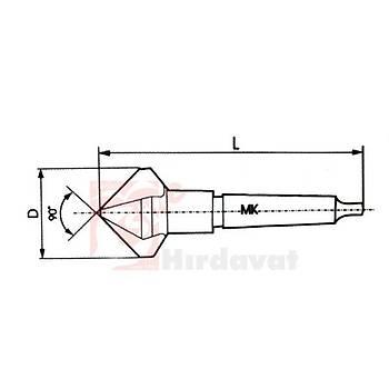 Konik Saplý Havþa Freze 90° DIN 335/D 3 Aðýzlý 34 mm HSS (PLD) (1 Adet)