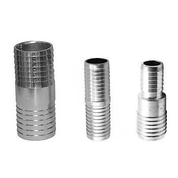 Metal Hortum Birleþtirici Düz 4-4 35mm (10 Adet)
