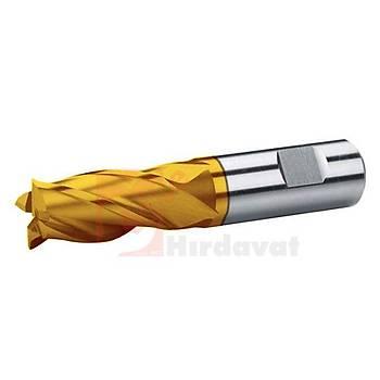Kýsa Parmak Freze 38 mm DIN 844 HSS TiN (Çin) (1 Adet)