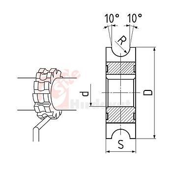 Ýç Bükey Freze R 03,5 x 63 mm (1 Adet)