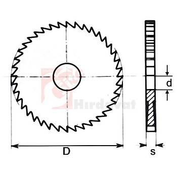 Metal Daire Testere HSS DIN 1837 A 032x1,6 mm 48 Diþ (GSP) (1 Adet)