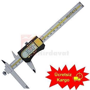 Asimeto AS-317 Ayarlanabilir Çeneli Dijital Kumpas 0-200 mm (1 Adet)