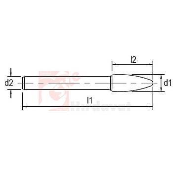 Ekonomik Tip Karbür Kalýpçý Frezesi SF Çapraz 16x25 mm Baþlý 70 mm Saplý (1 Adet)