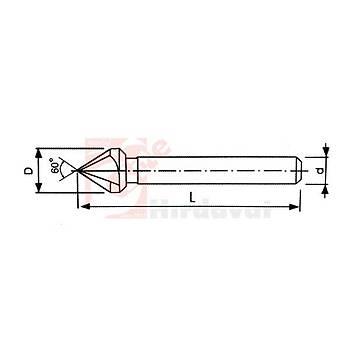 Havþa Freze 60° DIN 334/C 3 Aðýzlý 35 mm HSS (PLD) (1 Adet)