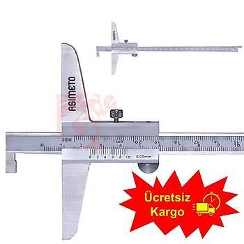Asimeto AS-322 Tek Kanca Derinlik Kumpasý 0-300 mm - Mekanik (1 Adet)