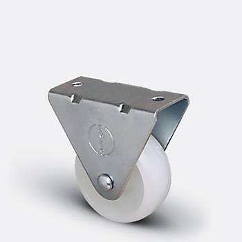Emes / EP02 ZKZ 50 / 50 mm Çaplý Polyamid Burçlu Sabit Teker