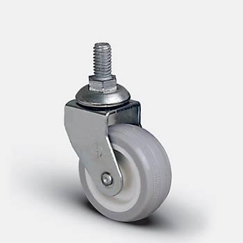 Emes / EB05 ZKC 50 / 50 mm Çaplý Civatalý Polyamid Üzeri PVC Kaplý Burçlu Döner Teker