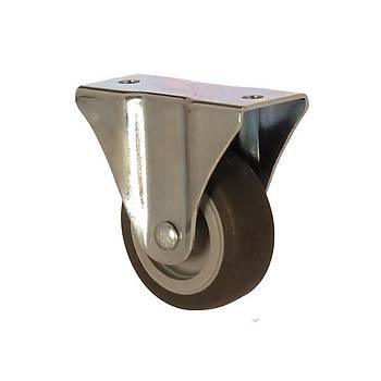 Zet / 1104 MEB 050 / 50 mm Çaplý Moblen (PP) Üzeri Termoplastik Kaplý Burçlu Sabit Teker