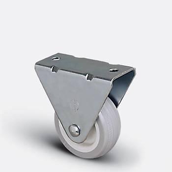 Emes / EP02 ZKC 75 / 75 mm Çaplý Polyamid Üzeri PVC Kaplý Burçlu Sabit Teker