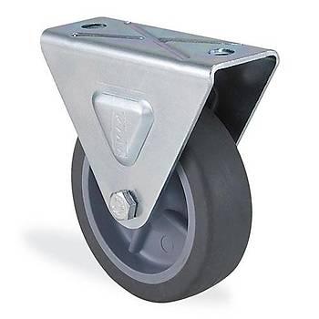 Kama / 1707 MTB 075 / 75 mm Çaplý Moblen (PP) Üzeri Termoplastik Kaplama Burçlu Sabit Teker
