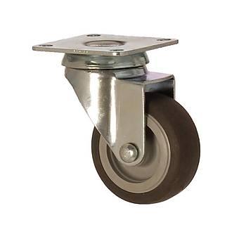 Zet / 1102 MEB 075 / 75 mm Çaplý Tablalý Moblen (PP) Üzeri Termoplastik Kaplý Burçlu Döner Teker