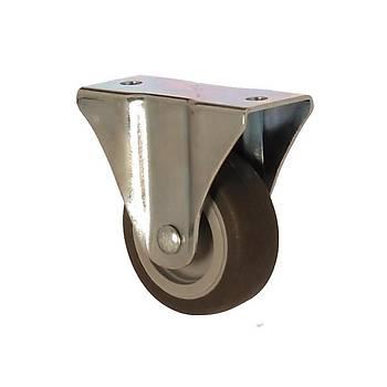 Zet / 1104 MEB 075 / 75 mm Çaplý Moblen (PP) Üzeri Termoplastik Kaplý Burçlu Sabit Teker