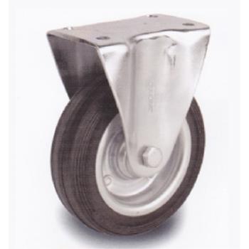 Mertsan / S-SLB 200x50 / 200 mm Çaplý Sac Cant Üzeri Dolgu Lastik Burçlu Sabit Teker