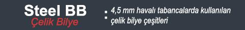 Havalý tabancalar için en ucuz 4,5 mm çelik bilye çeþitleri Bozkurtav.com'da..