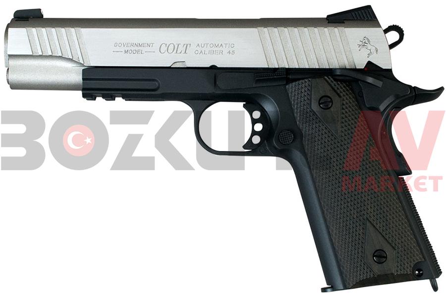 En Ucuz Cybergun Colt 1911 Nickel Black Blowback Airsoft