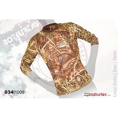 Discovery Uzun Kollu Saz Desenli T-Shirt
