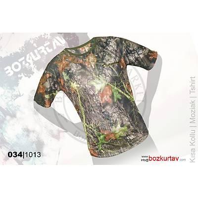 Discovery Kýsa Kollu Klima Mozaik Desenli T-Shirt