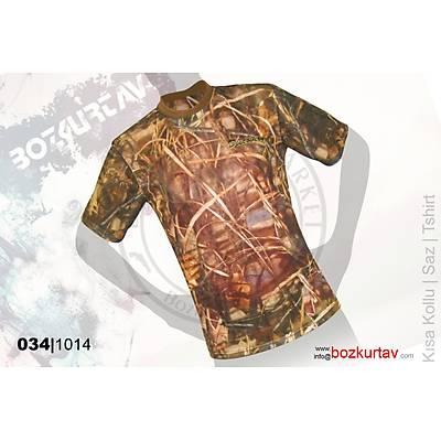 Discovery Kýsa Kollu Klima Saz Desenli T-Shirt