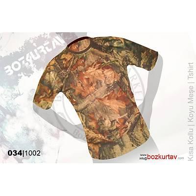 Discovery Kýsa Kollu Koyu Meþe Desenli T-Shirt