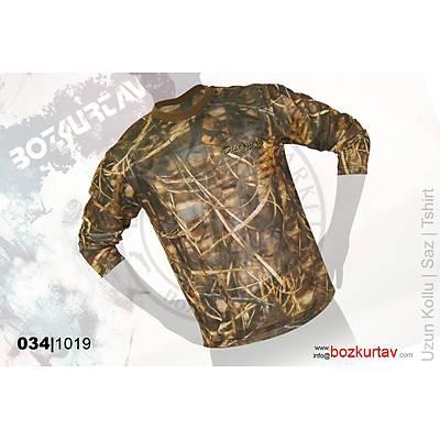 Discovery Uzun Kollu Klima Saz Desenli T-Shirt