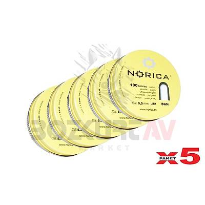 Norica Ban 100 5,5 mm 5 Paket Havalý Tüfek Saçmasý