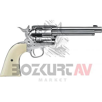 "Colt Single Action Army 45 Nickel 5,5"" Havalý Tabanca"