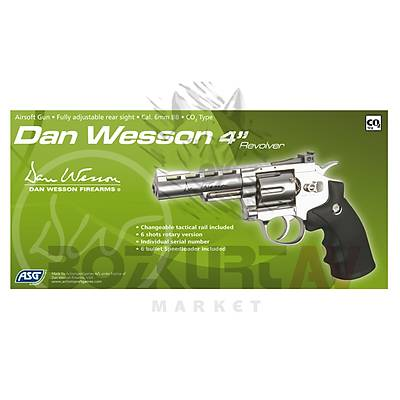 """ASG Dan Wesson 4"""" Silver Airsoft Havalý Tabanca"""