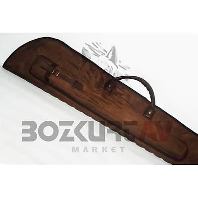 HunterLand Açýk Kahverengi Çift Namlu Bölmeli Süet Tüfek Kýlýfý
