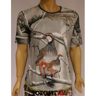 Loç Keklik Resimli Kýsa Kollu T-Shirt