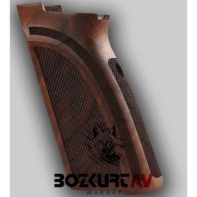 Browning BDA Tasarým 38 Kalibre - Kýsa 9 mm Baklava Desenli Ceviz Tabanca Kabzasý