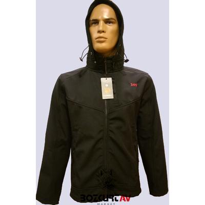 Loç Outdoor 201 Softshell Kapþonlu Siyah Ceket